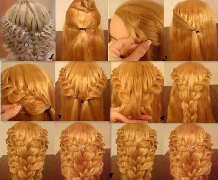 Красивые прически на средние волосы пошагово