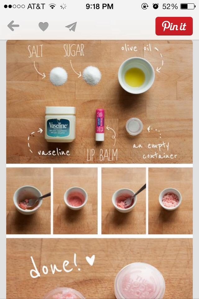 how to make diy lip scrub
