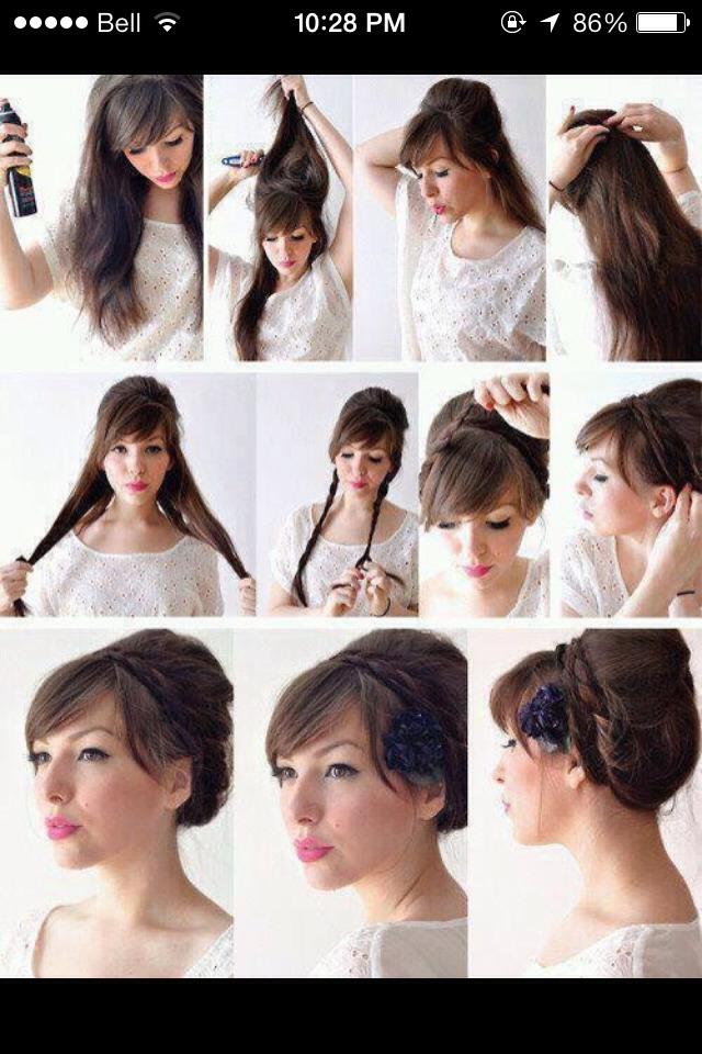 Причёски для волос средней длины своими руками фото