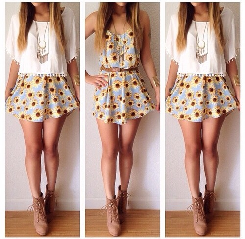 Summer fashion of teens