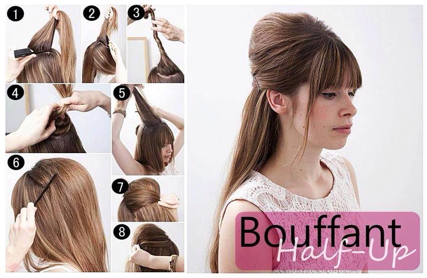 Как сделать начес на длинные волосы по всей голове