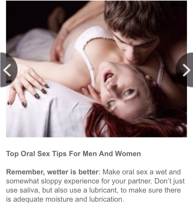 Oral sex techniques for women