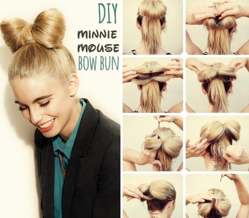 Как девочке сделать из волос рожки