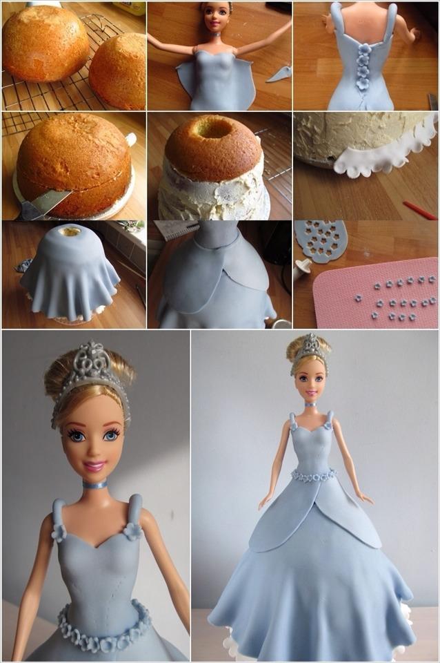 Как сделать торт кукле