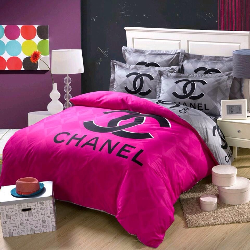 Cute Chanel Bed Sheets 💕💜🎀💋 Musely