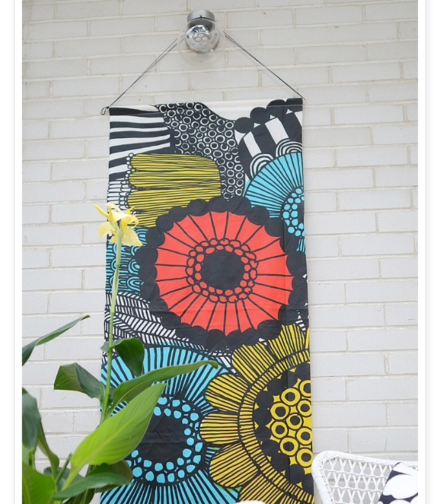 Diy Exterior Wall Decor : Diy marimekko outdoor wall art musely