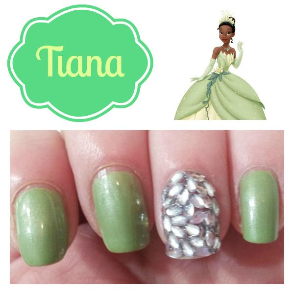 Disney Princess Tiana Waterfall Nail Art: Disney Princess Inspired Nail Art