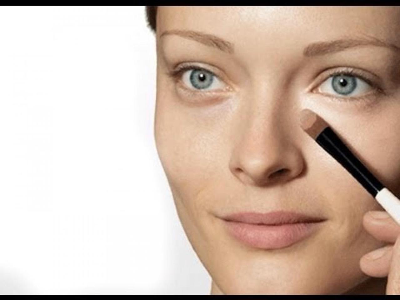 Замаскировать морщина макияжем на фото