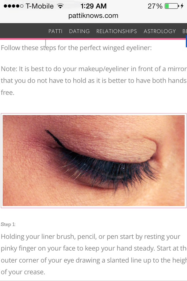 how to draw perfect winged eyeliner