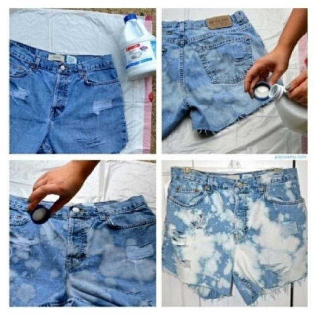 how to make cute jean shorts