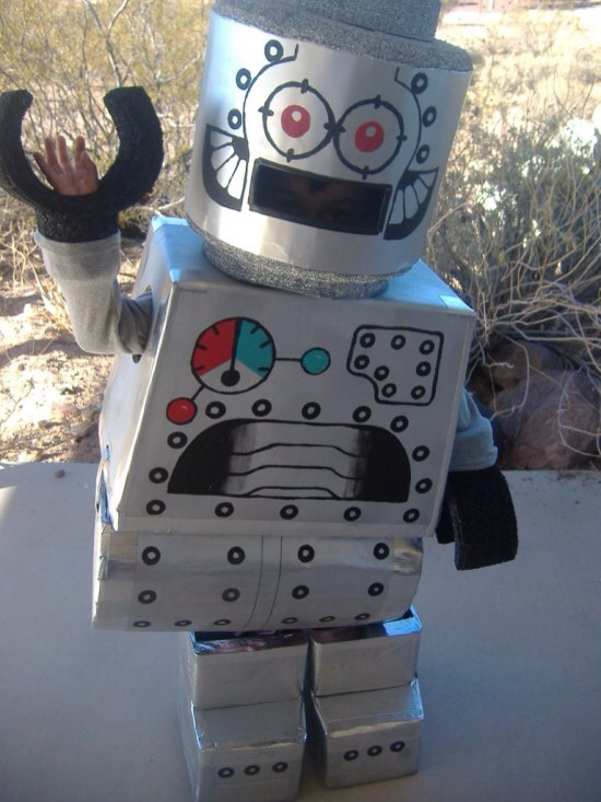 No sewing diy halloween costumes musely for Robotic halloween decorations