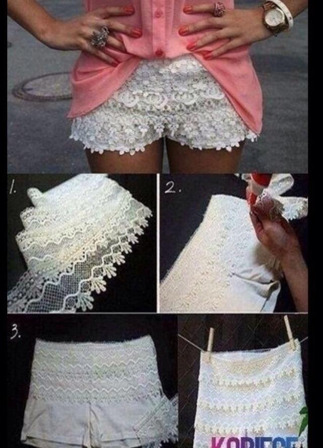 Как из старой платье сшить шорты