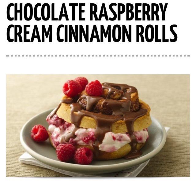 Chocolate Raspberry Cream Cinnamon Rolls😍 - Musely