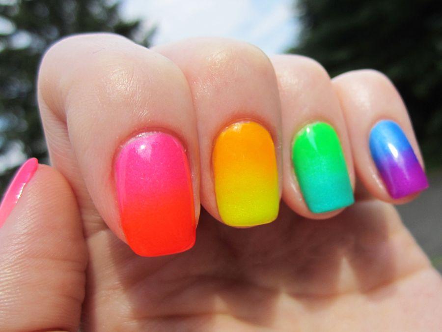 Сочетание цветов для разноцветного френча