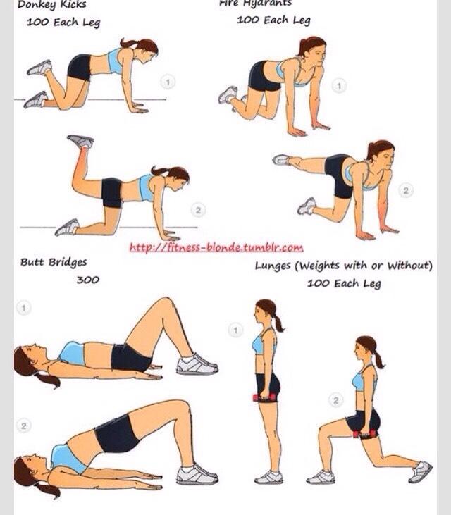 Как накачать попу за неделю в домашних условиях упражнения