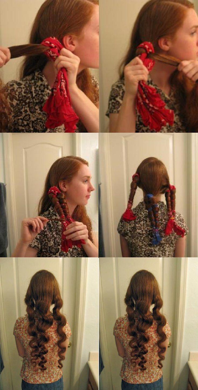 Как сделать объемные волосы без плойки в домашних условиях