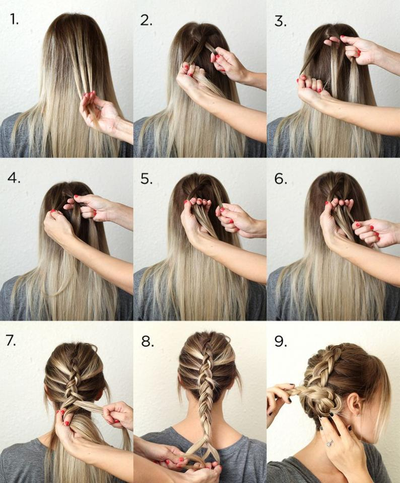 Причёски на длинные волосы в домашних условиях своими руками фото поэтапно для