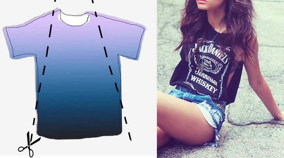 Из обычной футболки сделать модную