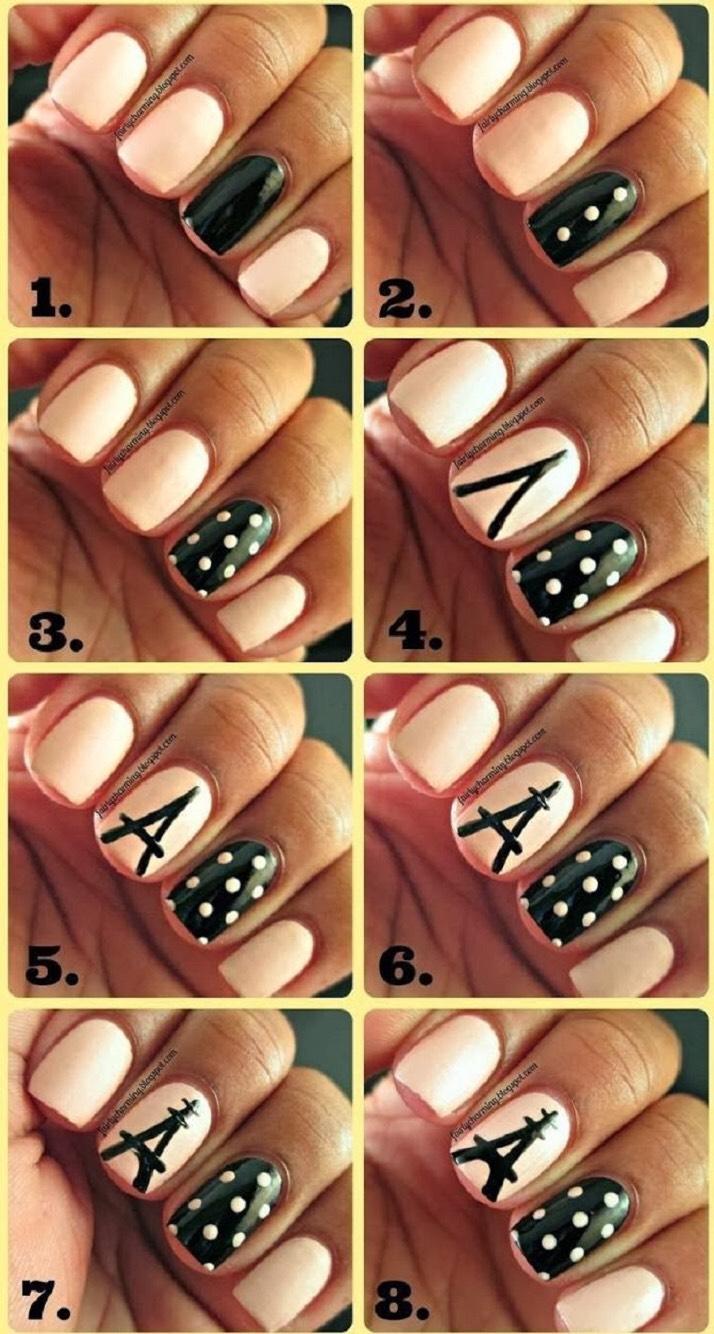 Рисунки на ногтях своими руками для новичков 45