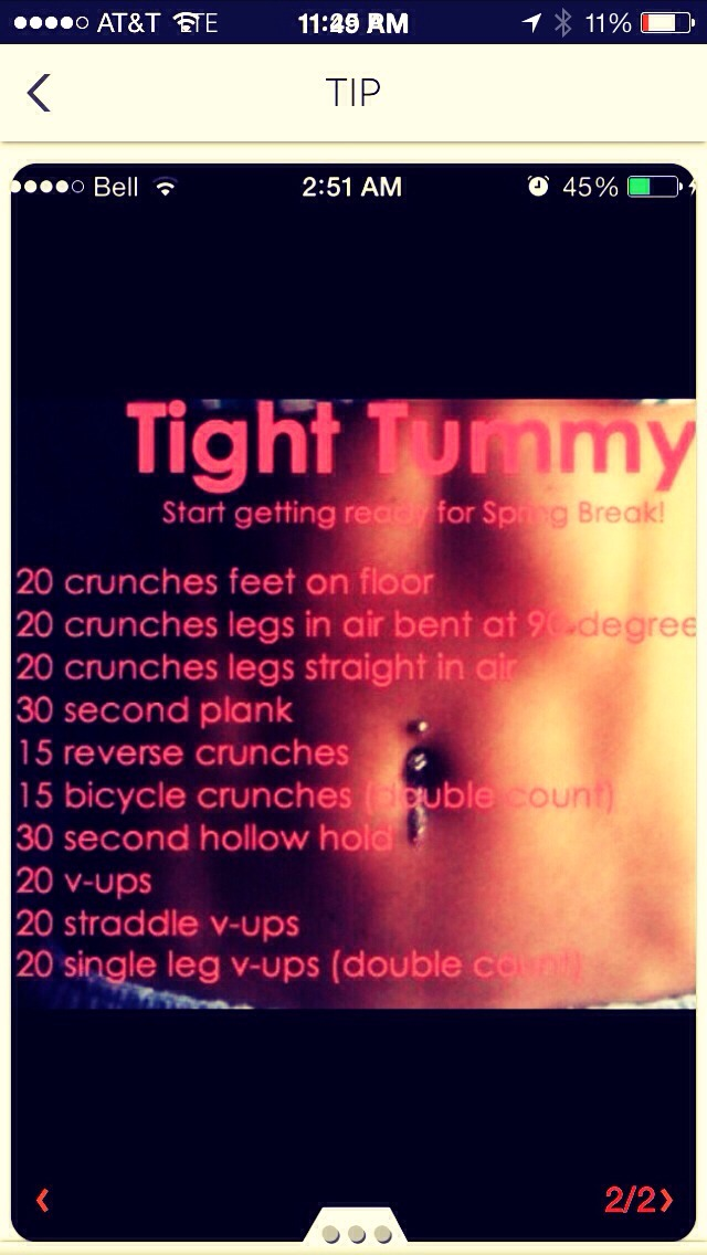 how to get a tight tummy fast