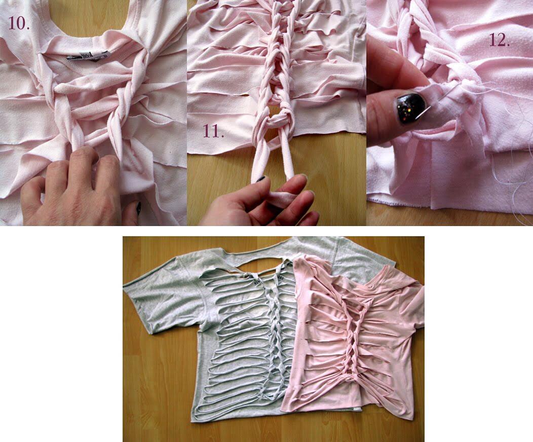 Разрезать майку своими руками
