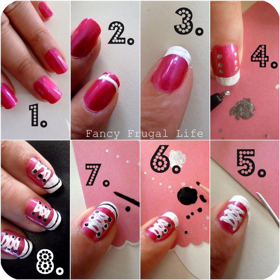 Как самой сделать рисунки на ногтях в фото