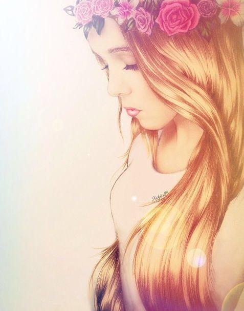 Красивые девушки на аву нарисованные