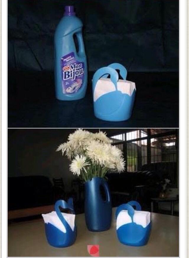 Бутылки из под моющих средств поделки