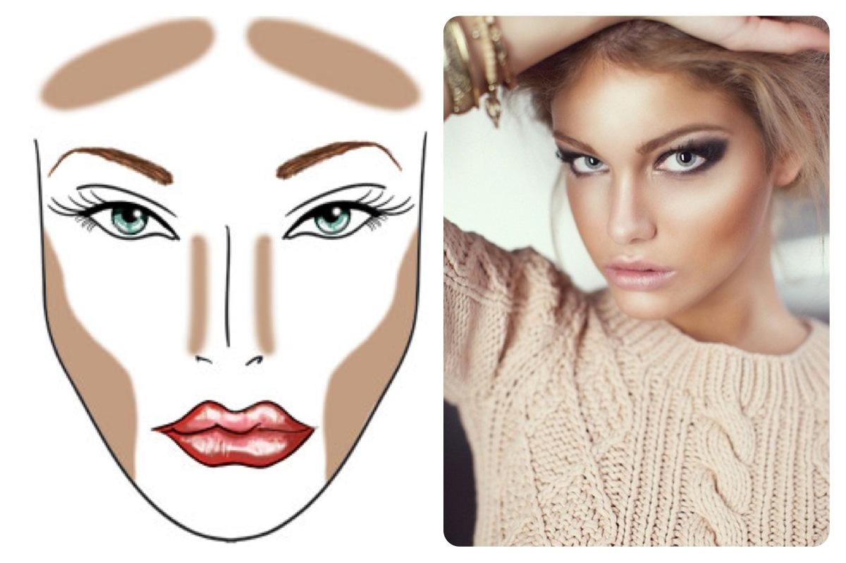 Какой макияж подходит до овального лица фото