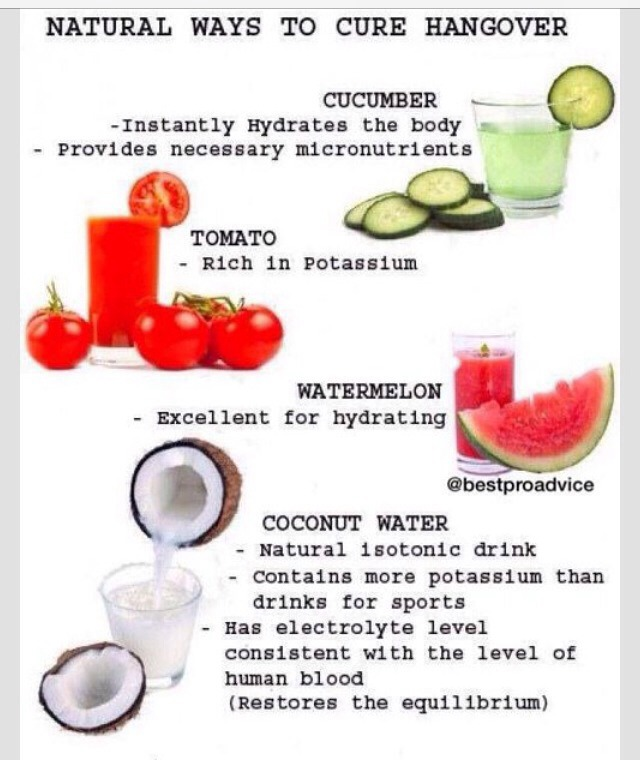 Natural Ways To Cure A Hangover