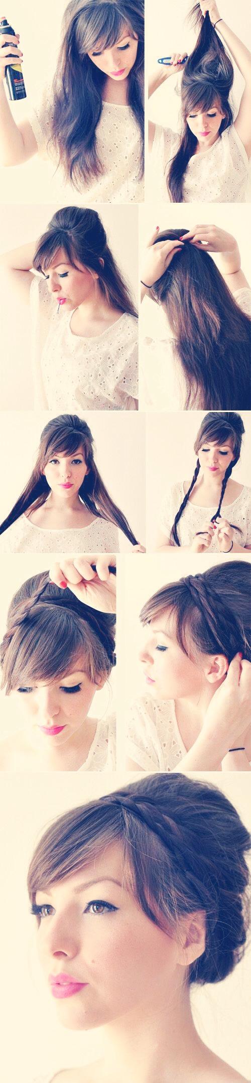 Как выбрать прическу на средние волосы с челкой 49