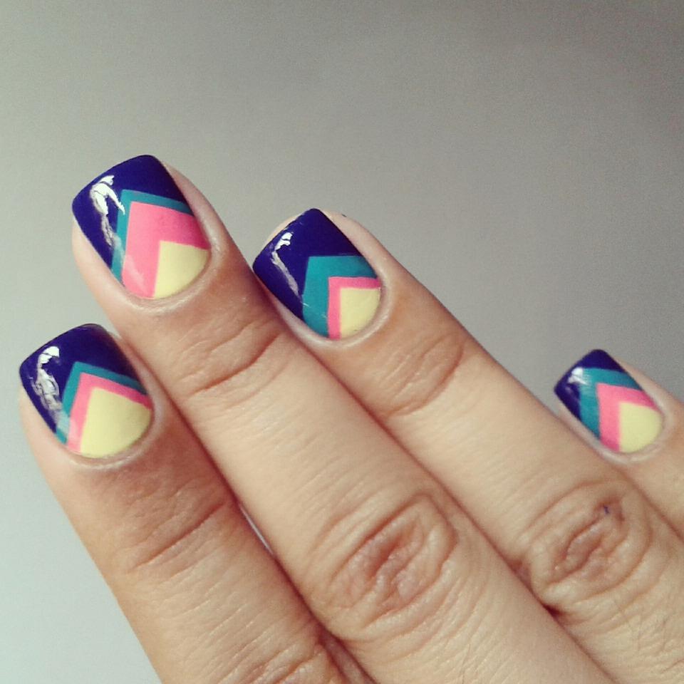 Рисунки для маникюра на коротких ногтях геометрические