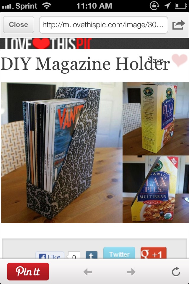 Diy magazine holder made of empty cereal box musely for Diy magazine box