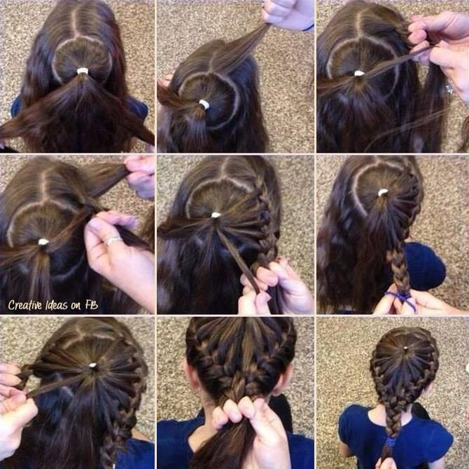 Причёски детские на средние волосы своими руками