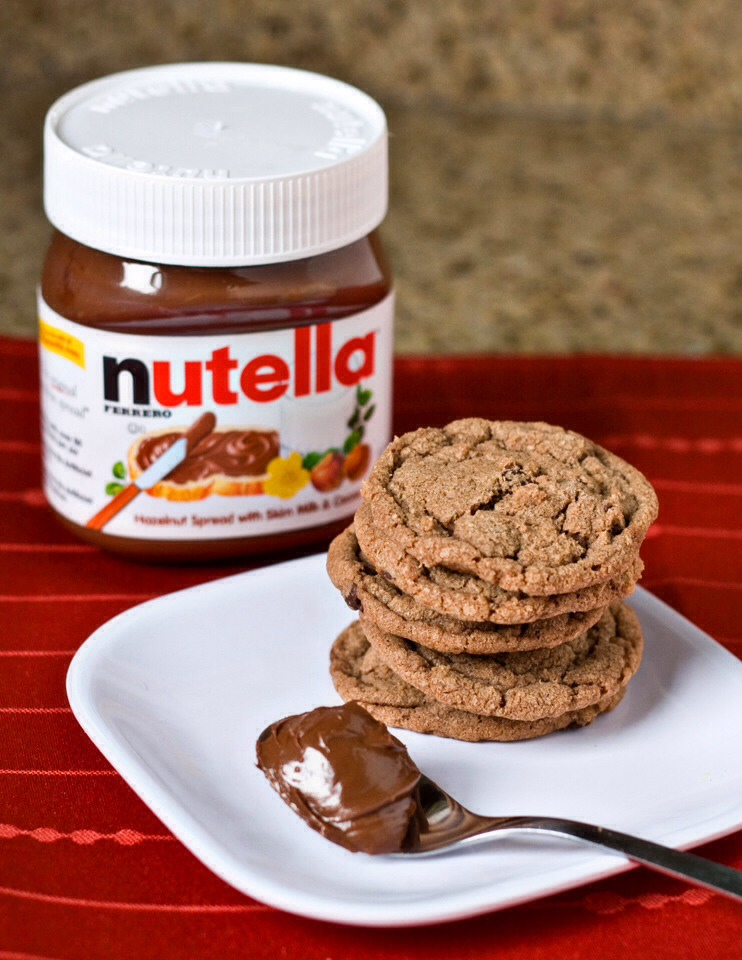 chocolate chip nutella cookies yum musely. Black Bedroom Furniture Sets. Home Design Ideas