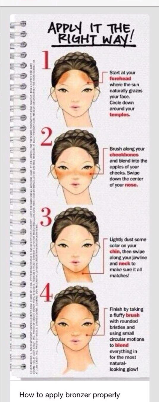 How To Apply Bronzer Properly!! 💄😉