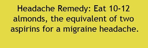 All Natural Headache Remedy