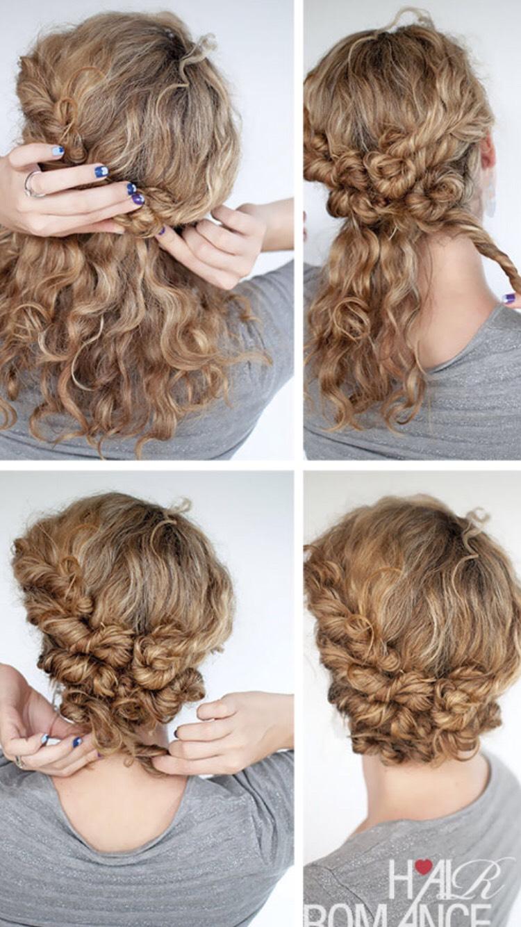 Как сделать прическу на кудрявые волосы