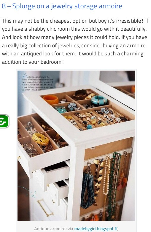 10 Creative And Stylish Jewelry Storage Ideas ??