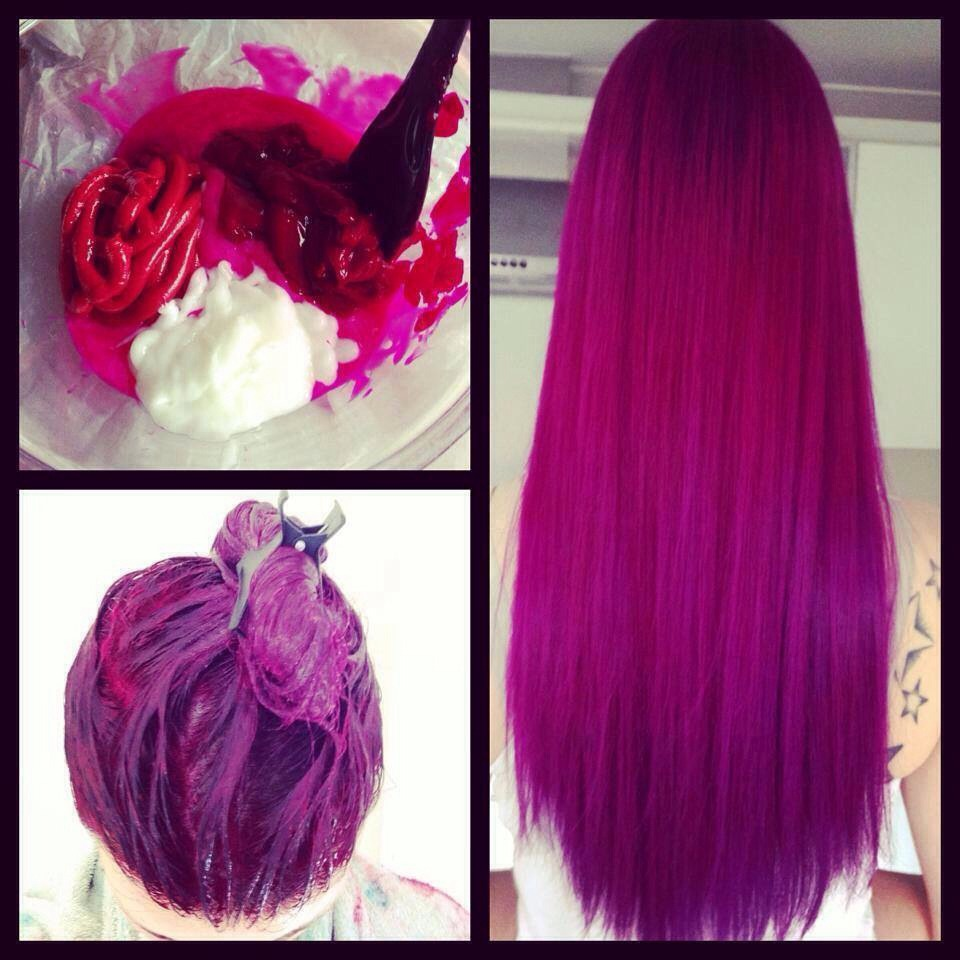 Покрасить волосы в фиолетовый в домашних условиях