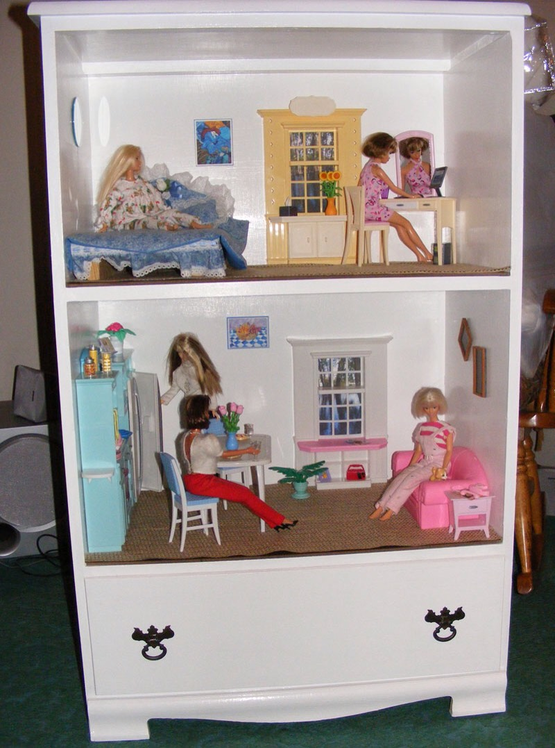 Мебель в кукольный домик своими руками фото