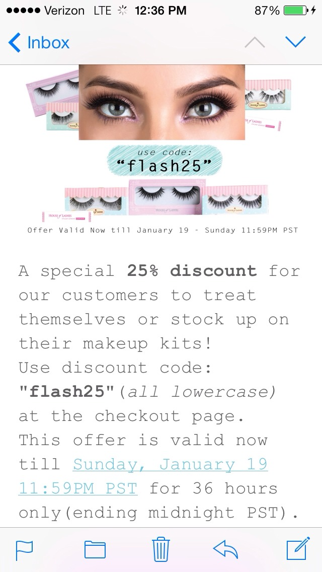 One two lashes coupon code