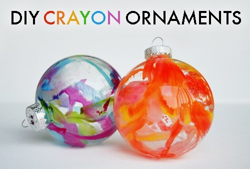 Diy crayon christmas tree ornaments musely for Clear plastic craft ornaments michaels