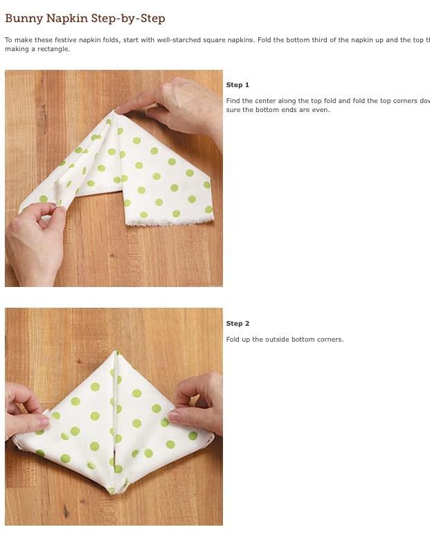 How to fold a bunny napkin musely - Fold bunny shaped napkin ...