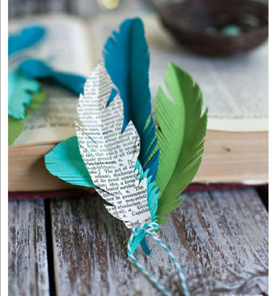 Как сделать красивые перья из бумаги