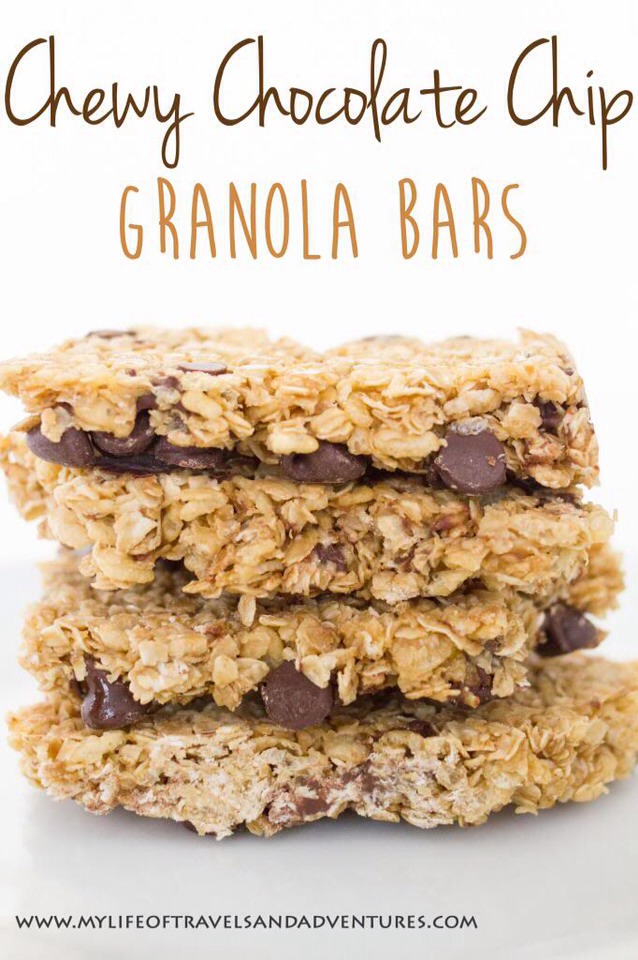 Chewy Chocolate Chip (No Bake!) Granola Bars!🍫 - Musely