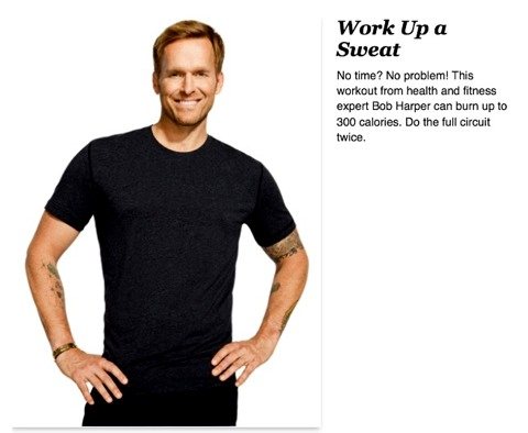 Get Trim and Toned in 10 Minutes Shape up with this calorie-burning workout from fitness expert Bob Harper By Bob Harper   10 Minute Calorie Burning Workout - Bob Harper Toning Workout - 6 Steps  Double Click for full image. Read &&Enjoy !!