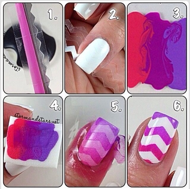 Cute Easy Nail Designs Using Tape 9616543 Scarsezefo