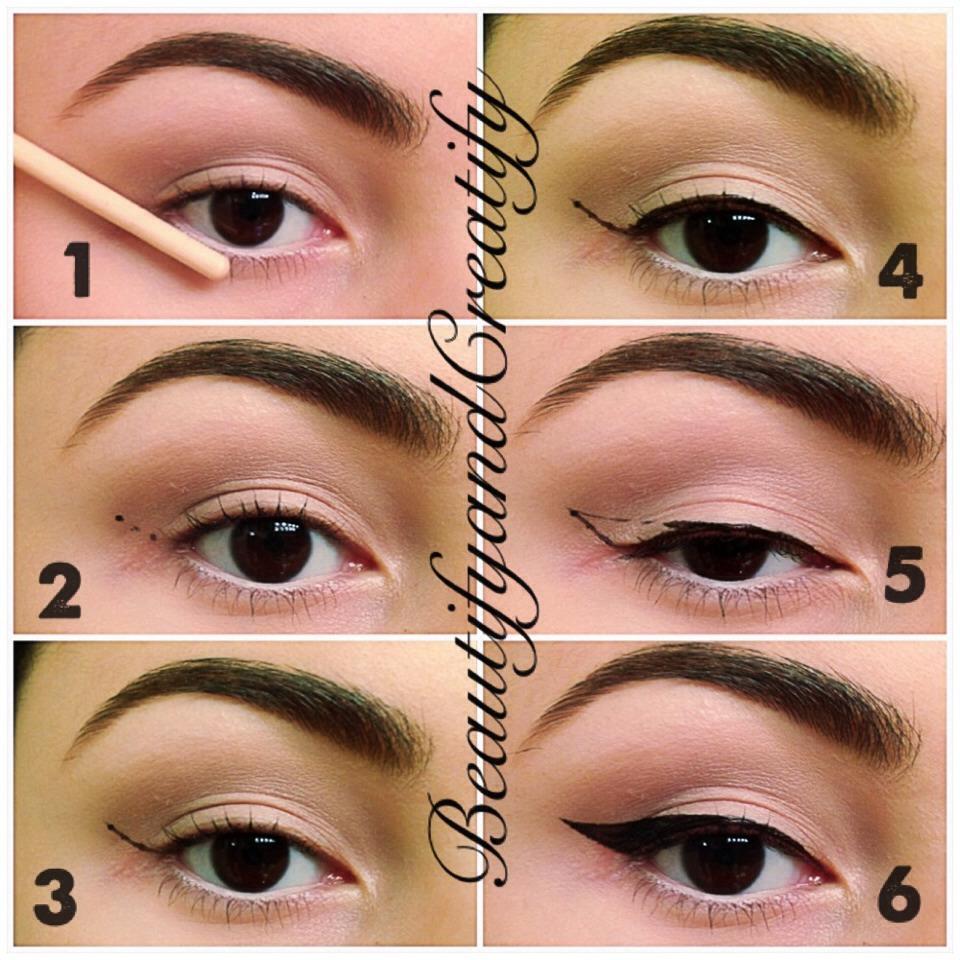 Как сделать одинаковые стрелки на глазах