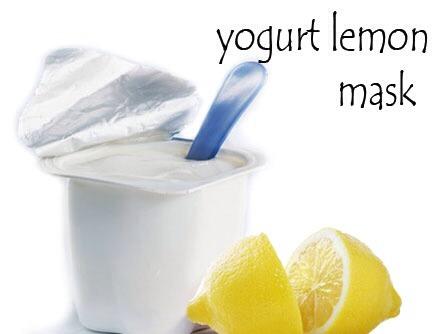 Home Made Face Mask Egg Lemon And Yogurr